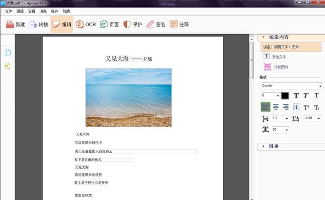 PDF 编辑软件 ApowerPDF 4.0.1 中文破解版-第3张图片-分享者 - 优质精品软件、互联网资源分享